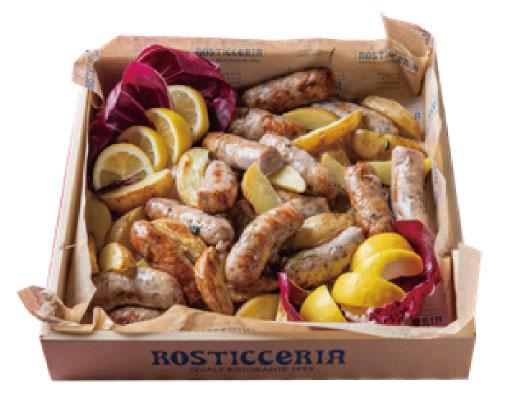 にいがた湯之谷 深雪もち豚の自家製サルシッチャ(腸詰め)のグリルジャガイモのロースト添え